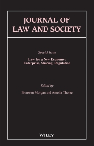 Journal of Law and Society, Issue 45.1, Frontispiece